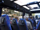 El interior del bus